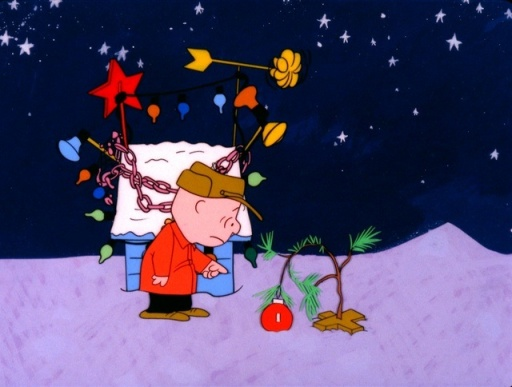 Except for A Charlie Brown Christmas. I DVRed it. But my heart is like that tree. Barren and bare.