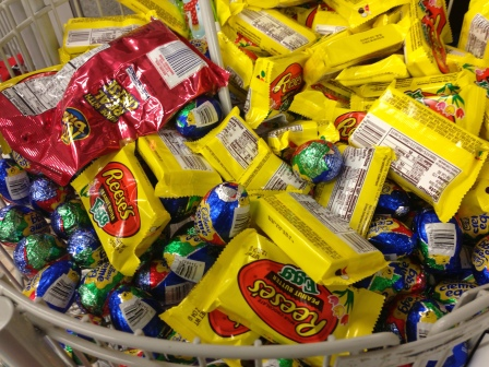 Christ rose so that you could eat this sweet stuff. Don't know about the Ritz Bits though.