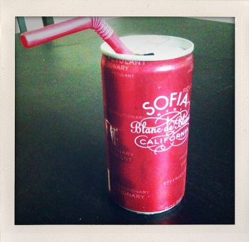 But if it's champgne out of a can we can talk. Am I right Sofia coppola or am I right?