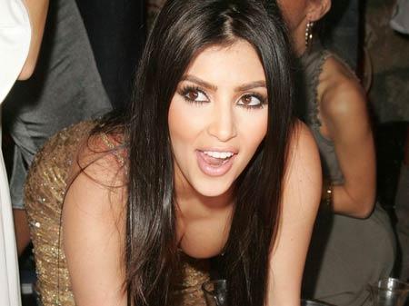 kim kardashian open mouth