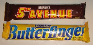 And let's not even start on 5th Avenue vs Butterfinger....