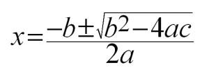 quadraticformula