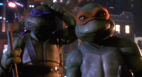 Get over yourself Donatello and Michaelangelo from the 1990 movie. Or is it Raphael and Leonardo? Who the f-- knows. I'm not a 10-year-old movie.
