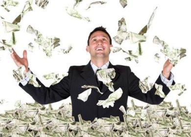 I WISH it were a flurry of money. Sorry kidz, I'm not rich.